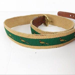 Dooney & Bourke Canvas and Leather Pheasant Belt
